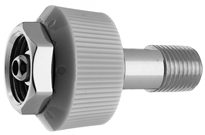 "DISS HT NUT AND NIPPLE N2 to 1/4"" M Medical Gas Fitting, DISS, 1120-A, N2, Nitrogen, DISS 1120-A to 1/4 male"