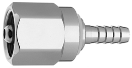 "DISS  NUT AND NIPPLE Air to 1/4"" Barb Medical Gas Fitting, DISS, 1160-A, Medical Air, Breathing Air"