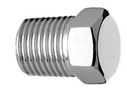 "1/8"" NPT  Head Pipe Plugs Medical Gas Fitting, NPT Plug, 1/8 cap, NPT Cap"