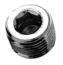 "1/4"" NPT  Head Countersunk Pipe Plugs Medical Gas Fitting, NPT Plug, 1/4 cap, NPT Cap, NPT countersink plug"