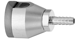 "F O2 Puritan Quick Connect  to 1/4"" Barb Medical Gas Fitting, Medical Gas Adapter, puritan quick connect, puritan Bennett quick connect, O2, Oxygen, Oxygen quick connect, Oxygen quick-connect, puritan female to hose barb"