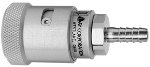 "F N2O Schrader Quick Connect Quick Connect to 1/4"" Barb Medical Gas Fitting, Medical Gas Adapter, schrader quick connect, N2O, Nitrous Oxide, Nitrous Oxide quick connect, Nitrous Oxide quick-connect, schrader female to hose barb"