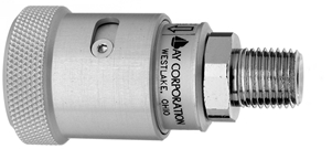 "F Vac Schrader Quick Connect to 1/4"" M Medical Gas Fitting, Medical Gas Adapter, schrader quick connect, Suction, Vaccum quick connect, Vacuum quick-connect, schrader female to 1/4 male"