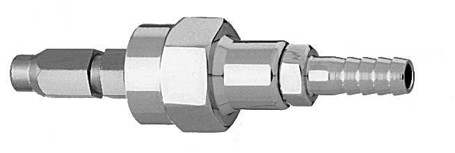 "M Air Schrader Quick Connect to 1/4"" Barb Medical Gas Fitting, Medical Gas Adapter, schrader quick connect, Medical Air, Medical Air quick connect, Medical Air quick-connect, schrader male to Hose Barb"