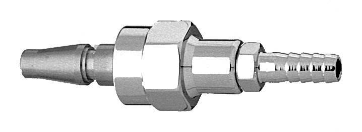 "M N2 Swivel Schrader Quick Connect to 1/4"" Barb Medical Gas Fitting, Medical Gas Adapter, Schrader, Nitrogen, N2, quick connect, quick-connect"