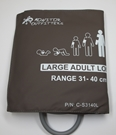 Cuff, Blood Pressure, Large Adult Long, Single Tube 31-40cm