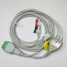 ECG Cable GE Dash One-Piece 3-Lead Pinch
