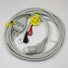 ECG Cable Philips One-Piece 3-Lead Snap