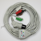 ECG Cable AAMI One-Piece 5-Lead Pinch