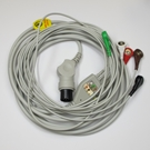 ECG Cable AAMI One-Piece 5-Lead Snap