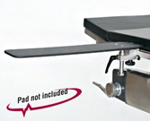 Radiolucent Surgery Table Armboard with Posi-Lock - 26""
