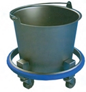 Stainless Steel 12 Quart Kick Bucket