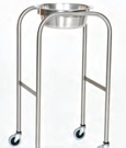 Stainless Steel Single Bowl Ring Stand with H-Brace