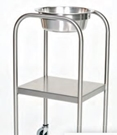 Stainless Steel Single Bowl Ring Stand with Shelf