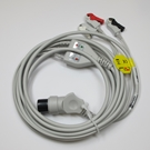 ECG Cable AAMI One-Piece 3-Lead Pinch